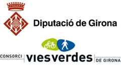 Greenway sponsorship logo Carrilet Olot - Girona Greenway