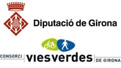 Greenway sponsorship logo Carrilet Girona - Sant Feliù de Guíxols Greenway