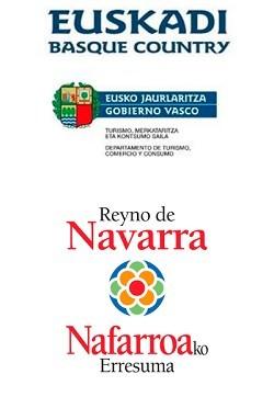 Greenway sponsorship logo Vasco-Navarro Railway Greenway