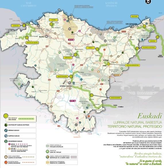 Mapa Pais Vasco Pueblos.Este Verano Recorre Las Vias Verdes De Euskadi Noticias De